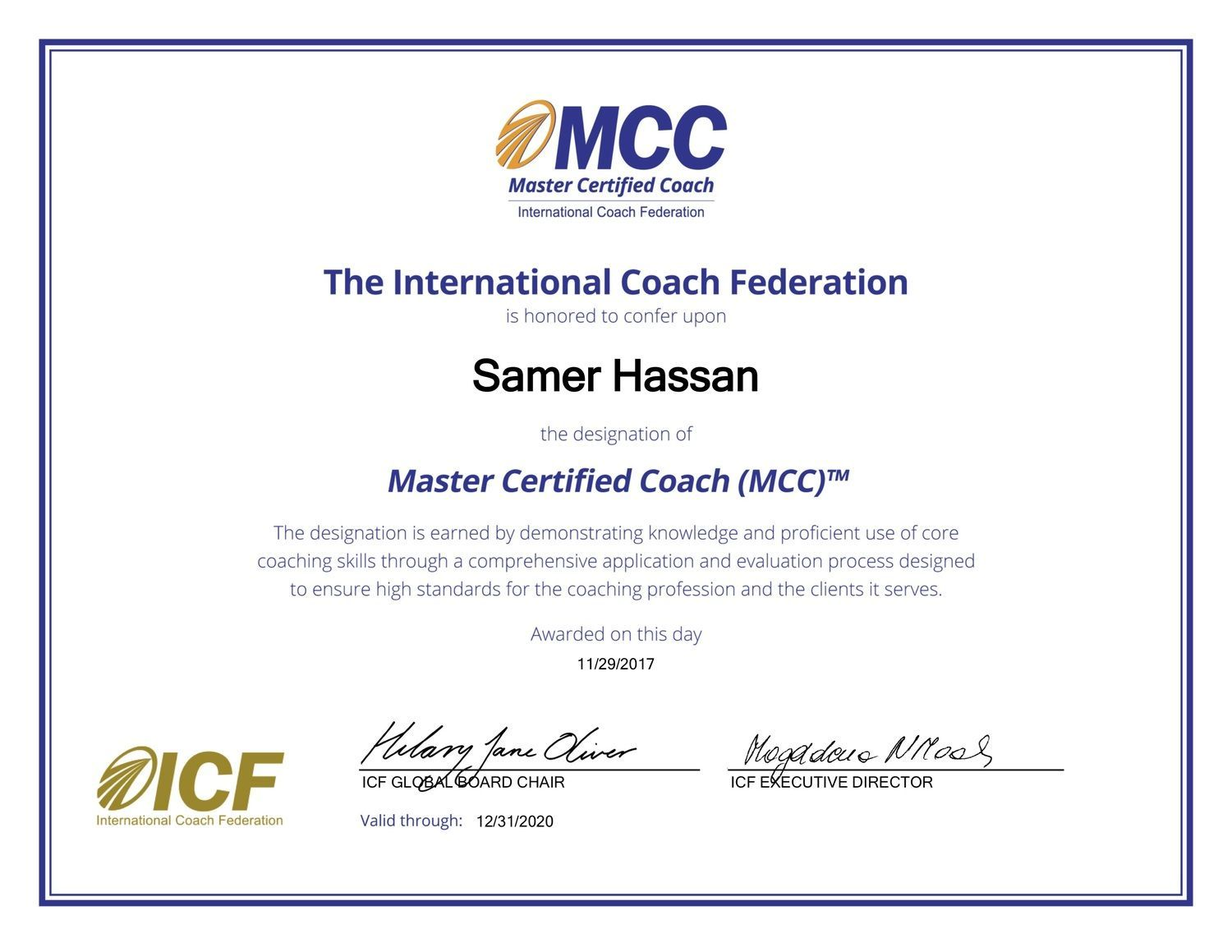 What Did Becoming An Mcc Master Certified Coach Mean To Me Kun
